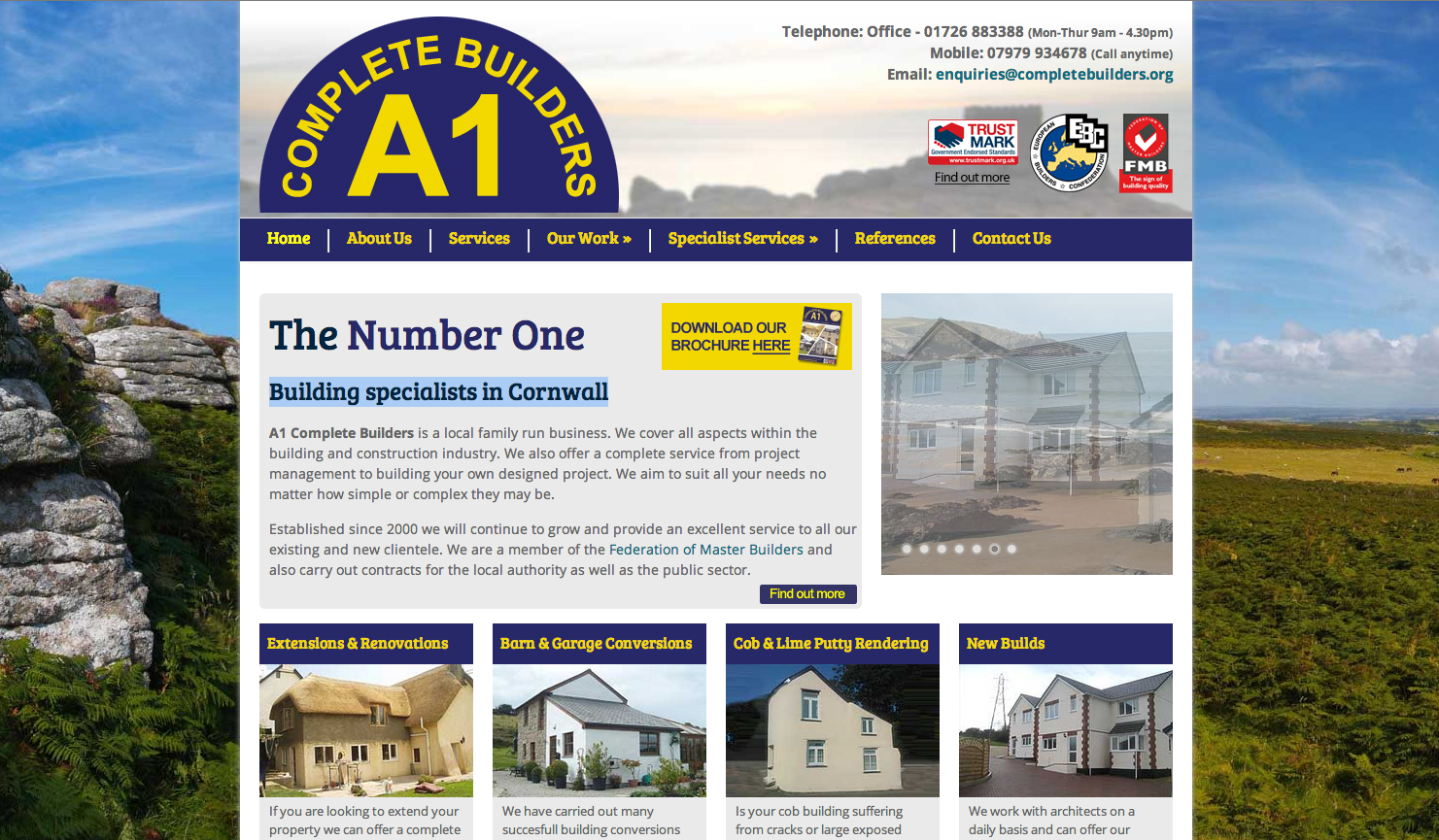 A1 complete builders first class web design for Builders first