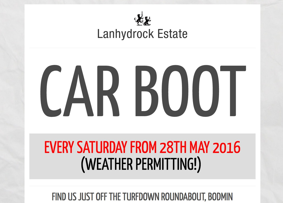 Lanhydrock Car Boot Sales