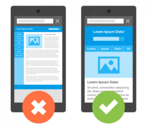 Example-of-responsive-and-non-responsive-website-on-mobile-device