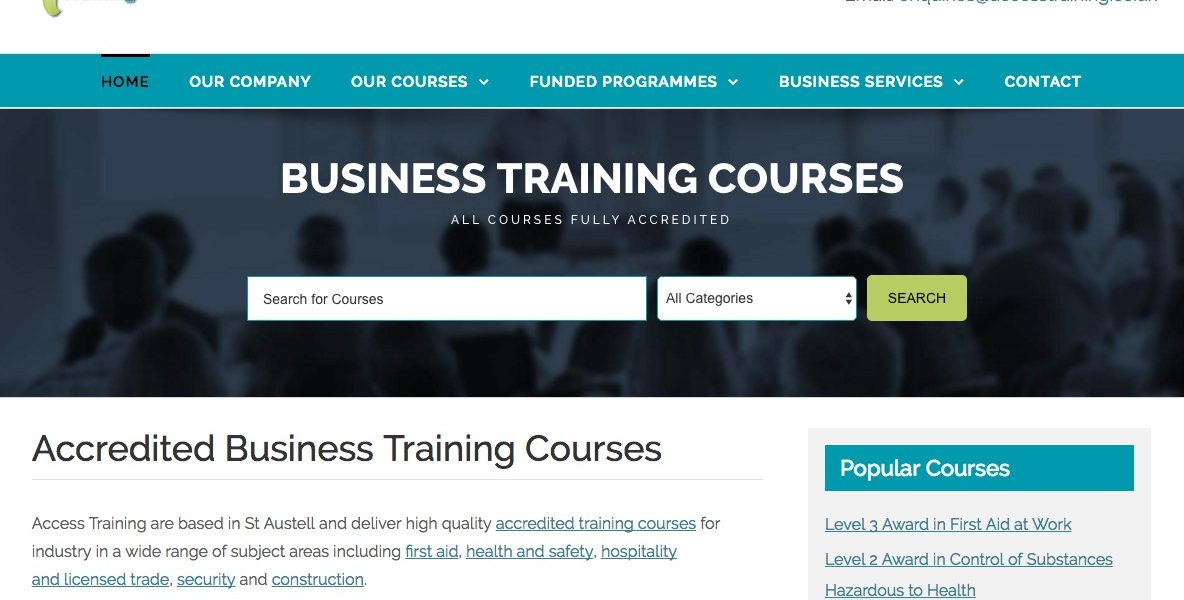 Access Training - Business Courses in St Austell